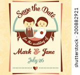 save the date   wedding... | Shutterstock .eps vector #200882921