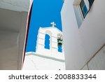 White Chapel In Mykonos  Greece