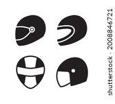 motorcycle helmet icon set...