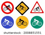 set of bicycle signs on white... | Shutterstock .eps vector #2008851551