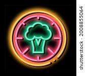 pizza broccoli neon light sign...   Shutterstock .eps vector #2008855064