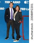 Small photo of LOS ANGELES - JUL 15: Bill Lawrence, Christa Miller at the Ted Lasso Season 2 Premiere Screening at the Pacific Design Center Rooftop on July 15, 2021 in Los Angeles, CA
