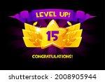 level up reward cartoon gold...