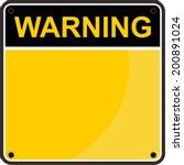 warning sign | Shutterstock .eps vector #200891024
