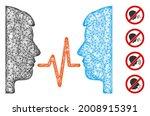 mesh dialog signal web icon... | Shutterstock .eps vector #2008915391