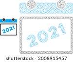 mesh 2021 calendar leaf model... | Shutterstock .eps vector #2008915457
