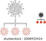 mesh covid replication model... | Shutterstock .eps vector #2008925414