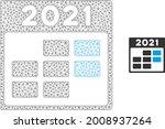 mesh 2021 week calendar model... | Shutterstock .eps vector #2008937264