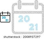 mesh 2021 calendar model icon.... | Shutterstock .eps vector #2008937297