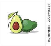 ripe avocados fruits  healthy... | Shutterstock .eps vector #2008946894