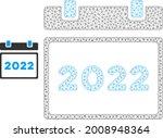 mesh 2022 calendar model icon.... | Shutterstock .eps vector #2008948364
