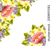 abstract flower background with ... | Shutterstock . vector #200895581