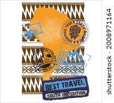 set of africa post stamp... | Shutterstock .eps vector #2008971164