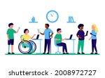 employee people with...   Shutterstock .eps vector #2008972727
