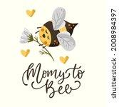 cute cartoon bee illustration... | Shutterstock .eps vector #2008984397