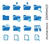 vector folder icon set