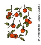 vector card with hand drawn... | Shutterstock .eps vector #2009066867