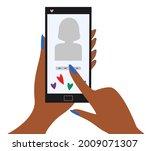 woman registering on dating...   Shutterstock .eps vector #2009071307