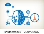 eiffel tower and abstract human ... | Shutterstock .eps vector #200908037