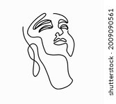 continuous line drawing. trendy ...   Shutterstock .eps vector #2009090561