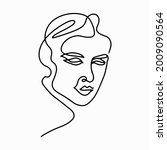 continuous line drawing. trendy ...   Shutterstock .eps vector #2009090564