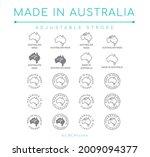 made in australia vector line...   Shutterstock .eps vector #2009094377