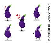 vector illustration of eggplant ...   Shutterstock .eps vector #2009099984