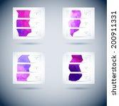 set of abstract vector... | Shutterstock .eps vector #200911331