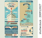 honeymoon cruise boarding pass... | Shutterstock .eps vector #200912027
