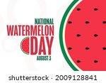 national watermelon day. august ... | Shutterstock .eps vector #2009128841