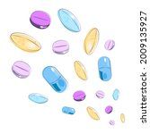 medical pills and tablets.... | Shutterstock .eps vector #2009135927