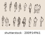 people sketch  vector... | Shutterstock .eps vector #200914961