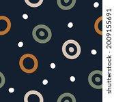 hand drawn geometric seamless... | Shutterstock .eps vector #2009155691