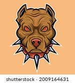 angry pit bull mascot with red... | Shutterstock .eps vector #2009164631