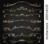 set of vintage victorian vector ... | Shutterstock .eps vector #200918135
