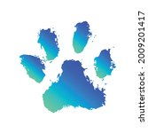 ink dog paw  grunge style ...   Shutterstock .eps vector #2009201417