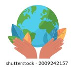 save the earth planet. colorful ...   Shutterstock .eps vector #2009242157