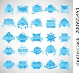 water labels set   isolated on... | Shutterstock .eps vector #200925491