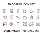 coffee set icon  isolated...   Shutterstock .eps vector #2009269451