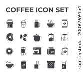 coffee set icon  isolated...   Shutterstock .eps vector #2009269454