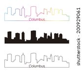 columbus  skyline linear style... | Shutterstock . vector #200929061