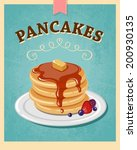 vector vintage styled pancakes... | Shutterstock .eps vector #200930135