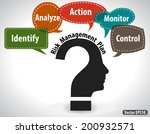 thinking head question concept... | Shutterstock .eps vector #200932571