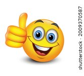 cute emoticon with thumb up ...   Shutterstock .eps vector #2009370587