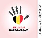 Belgian National Day. Hand Love ...