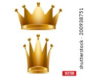 set of gold classic royal... | Shutterstock .eps vector #200938751