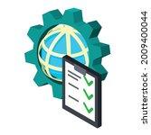 global setting icon. isometric...   Shutterstock .eps vector #2009400044