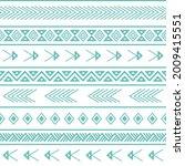 polynesian ethnic hand drawn... | Shutterstock .eps vector #2009415551