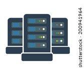 network server icon graphic. | Shutterstock .eps vector #200941964