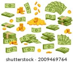 cartoon banknotes and coins.... | Shutterstock .eps vector #2009469764